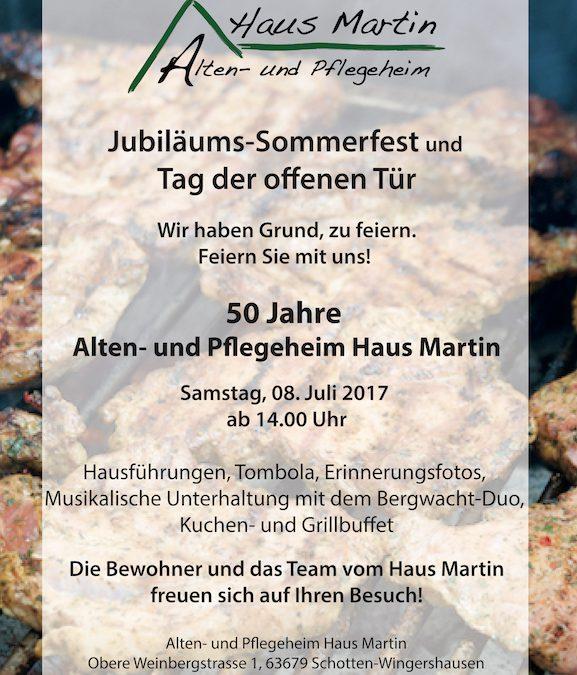 Jubiläums-Sommerfest mit Tag der offenen Tür im Haus Martin
